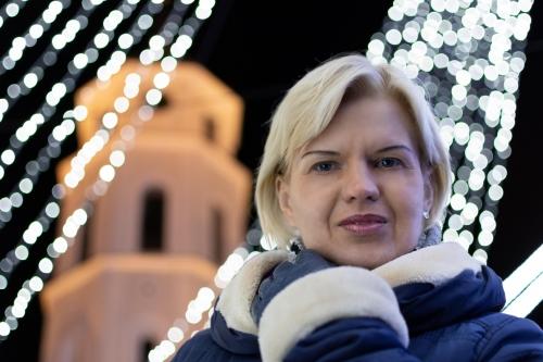 Olga. Kalėdinė fotosesija Vilniaus senamiestyje.