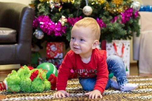 Kalėdinė fotosesija. Vladimir, Karolina ir Nikita