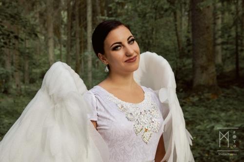 Asmeninė fotosesija su angelų sparnais